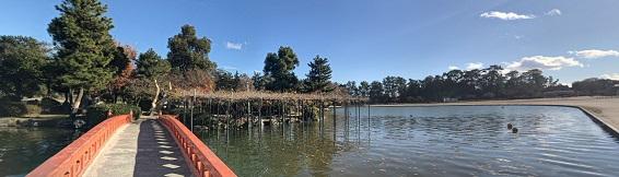 天王川公園の風景
