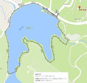 鞍ヶ池公園(湖畔遊歩道)ウォーキングコース