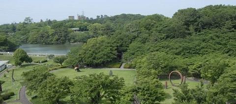 大池公園の風景