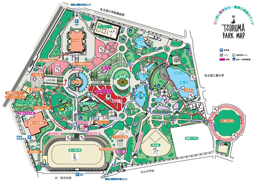 鶴舞公園ウォーキングマップ