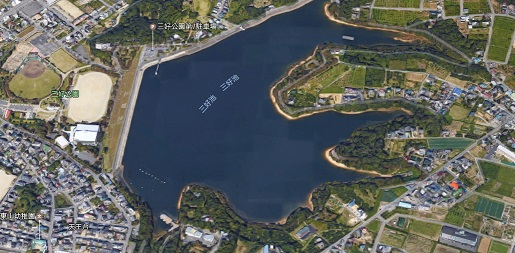 三好池上空からの風景