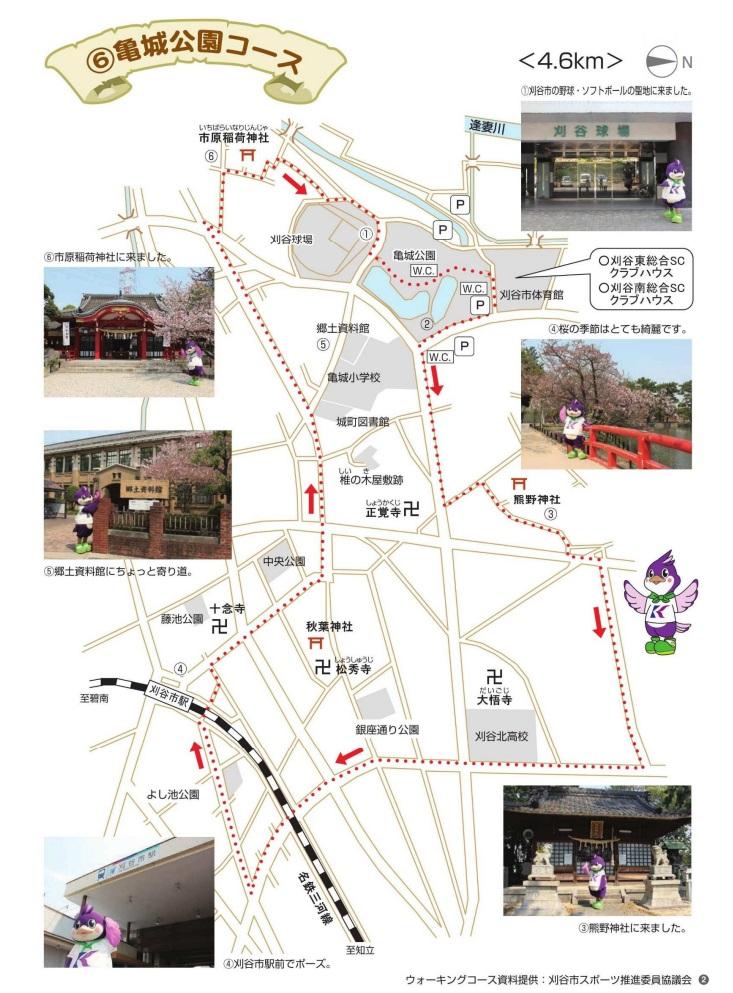 亀城公園ウォーキングコース